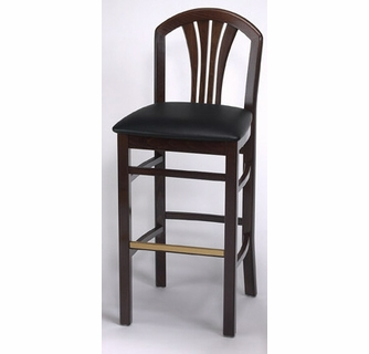 Pleasing Fanned Slat Back Commercial Wood Counter Stool Free Shipping Dailytribune Chair Design For Home Dailytribuneorg