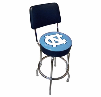 Tremendous Sports Fan North Carolina University Ncaa Chrome Bar Stool Unemploymentrelief Wooden Chair Designs For Living Room Unemploymentrelieforg