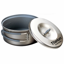 Click to enlarge image of Evernew Titanium Non-Stick Pot with Handle - 0.6L (ECA421)
