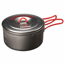 Click to enlarge image of Evernew Titanium Ultralight Pot #1 with Handle - 0.6L (ECA251)