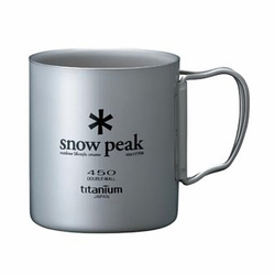 Click to enlarge image of Snow Peak Titanium 450 Double Wall Mug