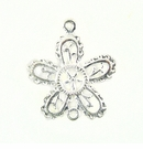 5-Petal Flower Silver Finish 25x28mm