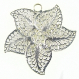 5-Pieces Petal Flower Silver Finish 40x40mm