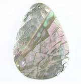 Abalone Cracking Shell Teardrop Pendants