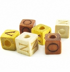 Alphabet Square Wood Beads