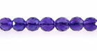 Amethyst Faceted Round Beads 6mm