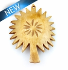 Antique bone carved tree shape pendant 40x53
