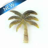 Blacklip Laser cut pendant  palm tree des. 35mm