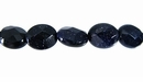 Blue Faceted Oval  Goldstone  Beads
