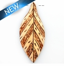 Burnt wood leaf design 21x53x5.5mm