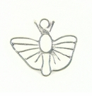 Butterfly Charm Silver Finish 28x32mm