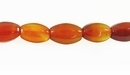 Carnelian 6- Sided Navette Beads 6x9mm