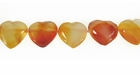 Carnelian Faceted Heart Side Drill 10x18x5mm