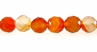 Carnelian Round Beads Faceted 8mm