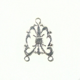 Chandelier Earring Component Silver Finish 12x24mm