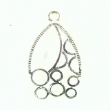 Chandelier Earring Component Silver Finish 20X30mm