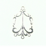 Chandelier Earring Component Silver Finish 21x32mm
