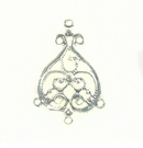 Chandelier Earring Component Silver Finish 22x33mm