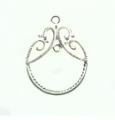 Chandelier earring component silver finish 25x31mm