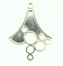 Chandelier Earring Component Silver Finish 30x40mm