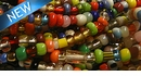 Christmas beads glass beads from Venice 3-4mm