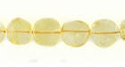 Citrine Coin Beads 8mm 14.5""