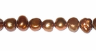 Copper Nugget Pearls 5-6mm