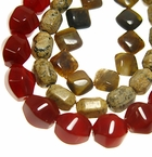 Diamond, Drum, Twist & Tube Shaped Gemstones