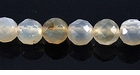 Faceted Round Smoky Gray Agate Beads 6mm
