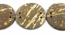 Flat round disc coco beads 30mm