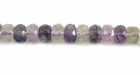 Fluorite Faceted Rondelle Beads 5x8mm