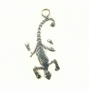 Gecko Charm Silver Finish 10x35mm
