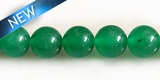 Green Aventurine round beads 10mm DYED