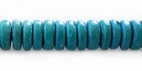 Green coco pukalet beads 10mmx3mm