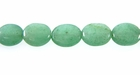 Green  Flat Oval Aventurine Beads
