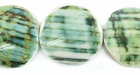 Green Turbo Coin Shell Beads 20mm