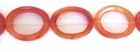 Hollow Oval Orange Agate Beads  27x37mm
