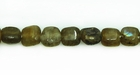 Labradorite Flat Square Beads 4.5-6mm