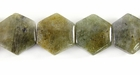 Labradorite Six-Cornered Gemstone Beads 15mm