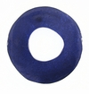 Lam. Capiz Shell Irregular Donut 50mm Electric Blue