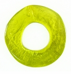Lam. Capiz Shell Irregular Donut 50mm - Olive green