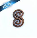 Laser cut; brown coco infinity pendant;  14x27x3mm