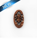 Laser cut brown coco pendant 16x27x3mm 16x27x3mm