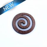 Laser cut; brown coco; pendant;25x25x3mm