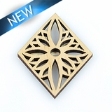 Laser cut himbabawod wood pendant 33x44-45mmx3mm