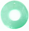 Light Green Capiz Donut Shell Pendants