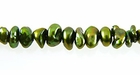 Lime Green Center Drilled Keshi Pearls 6-7mm