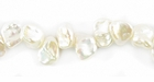 Medium White Keshi Pearls