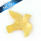 MOP Laser cut pendant bird des. 33mmx35mm