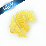 MOP Laser cut pendant dragon des. 30mmx19mm
